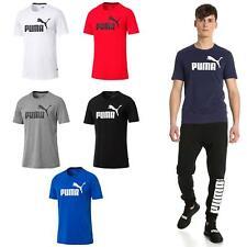 Puma Mens Essential Logo Short Sleeve Regular Fit Training T-Shirt