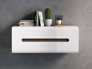 Modern Hanging Cabinet White High Gloss New Azteca