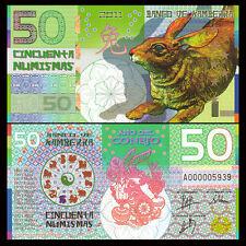 Kamberra 50 Numismas, China Lunar Year 2011, Polymer, UNC Rabbit, Banknotes