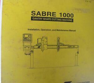 ESAB Sabre 1000 manual cnc