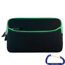 """Neoprene Cover Case for the Nook HD 7"""" Tablet - Black with Green Trim"""