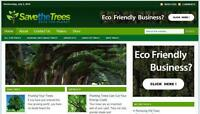 Save The Trees Eco Business  Affiliate Website Free Installation + Hosting