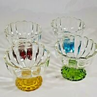 Vintage Set of Four Colorful Sorbet Ice-cream or Dessert Cups