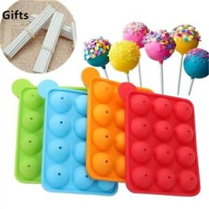 12 Units Hole Silicone Cake Pop Mould With Sticks Lollipop Chocolate Mold