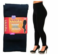 LADIES WOMEN THERMAL LEGGINGS FLEECE LINED WINTER THICK BLACK 2.3 TOG RATED S-XL