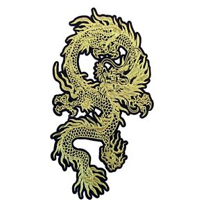 Oriental Dragon Iron On Patch Large Embroidered Badge 29.3 x 18 cm Motif P509