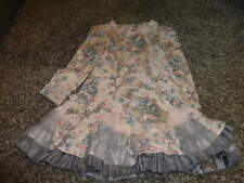 BOUTIQUE BABY BISCOTTI 4T 4Y 4 PINK GRAY GORGEOUS FLORAL DRESS