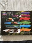 Chef's Vision Wildlife Series Kitchen Knife Set 6 Pieces Tiger Peacock Toucan
