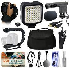 Micrófono luz LED Paquete De Accesorios para Nikon D5500 D5300 D5200 D3300 D3200