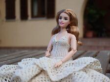 BARBIE Abito da sposa per Barbie di uncinetto dfc7027ee980