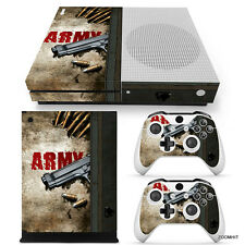 Xbox One S Console Skin Decal Sticker Army Gun + 2 Controller Skins Custom Set
