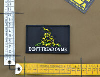 """Ricamata / Embroidered Patch """"Don't Tread On Me"""" Black with VELCRO® brand hook"""