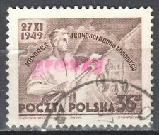 """Poland 1950 - Congress - surcharged """"GROSZY""""  Fi.504 - used"""