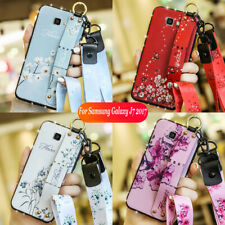 For Samsung Galaxy J7 V J7 Prime Sky Pro Perx Halo Bling Wrist Strap Case Cover