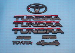For 2007-2013 Toyota Tundra Matte Black Badges tailgate 7 PCS Overlay Emblem