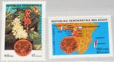MADAGASCAR MALAGASY 1987 1056-57 790-91 Coffee Kaffee Org. Map OAMCAF MNH