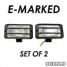 2x Fog Spot Lights White E-Marked For Seat Cordoba Leon Altea Arosa Exeo Ibiza