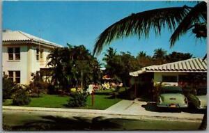 Vintage 1950s HOLLYWOOD Florida Postcard MARIE APARTMENTS Roadside Chrome Unused