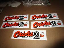 1983 Baltimore Orioles World Series Season Baseball Bumper Sticker Lot (5)
