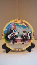 Warner Bros Pepe Le Pew Penelope Plate Parisian Woo 1998 Art Rare 847 Collector