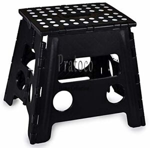 Folding Step Stool, 13 Inch - The Anti-Skid Step Stool is Sturdy to Support Adul
