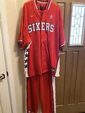 Mens Nike Velour Phila 76ers Two Piece Warmup Suit..Size XL