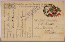POSTA MILITARE 48^ DIVISIONE 23.3.1917 MOTOCICLISTI  #XP297D