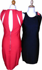 Very Definitions Bodycon Wiggle Dress  Black Red S M L 8 10 12 14 Party Cocktail