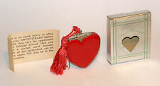 unused 1947 art deco red bakelite figural heart sweetheart perfume lighter