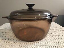 Vintage Corning Ware Pyrex VISION Dutch Oven/Stock Pot AMBER 4.75 Litre