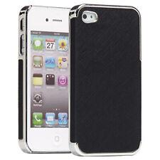 Apple iPhone 4 4s/5 5s, funda protectora, funda, funda protectora, estuche, back cover negro/cromo