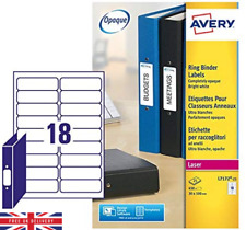 Avery Ring Binder Labels For Laser Pack of 450 25 Sheets Folders