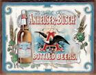ANHEUSER BUSCH BOTTLE BEERS BREWIANA TIN SIGN 1519 16 X 12.5