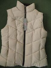 BNWT Cream Brown Reversible Padded Per Una Gilet Size Small