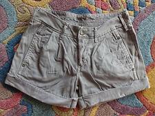 Stylische Jeans - Shorts von REPLAY Gr 26 Baumwolldenim grau mit Stickerei