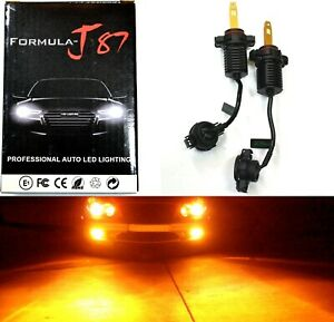 LED Kit M10 100W PS24W 5202 H16 Orange Amber Two Bulb Fog Light Replacement Lamp