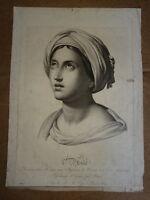 GRANDE GRAVURE NÉOCLASSIQUE ALLÉGORIE PORTRAIT FEMME ASIE EPOQUE EMPIRE 1810