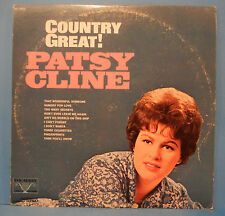PATSY CLINE COUNTRY GREAT! VL73872 VINYL LP 1969 ORIG PRESS GREAT COND! VG+/VG!!