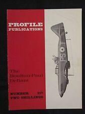 Profile Publications #117 The Boulton-Paul Defiant , Color Profiles, BW Photos
