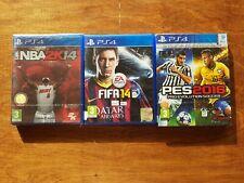 Lot de 3 jeux PS4 NBA 2K14 / FIFA 14 / PES 2016 français neuf