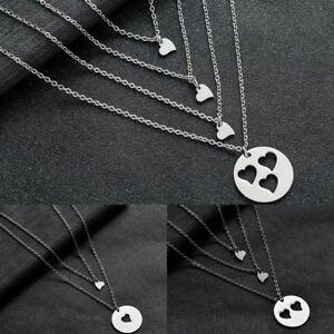 Love Mother Daughter Women Chain Necklace Family Mom Gift Jewelry Heart Pendant