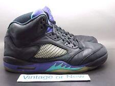 Nike Air Jordan V 5 Black Grape Retro 2013 sz 10.5