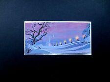 Disney Artist Ralph Hulett Christmas Greeting Card Purple Procession, Stunning!!