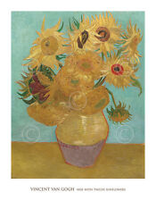 FLORAL ART PRINT Vase with Twelve Sunflowers, 1889 Vincent van Gogh Poster 28x36