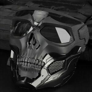 Skull Tactical Airsoft Masks Paintball Protective CS Full Face Mask Helmet Head