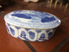 ancienne  boite à bijoux  en porcelaine  decor japon  - s103