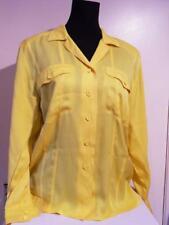 7809160330836 VINTAGE - Escada by Margaretha Lev Yellow 100% Silk Blouse - Size 38 (12
