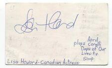 Lisa Howard Signed 3x5 Index Card Autographed Signature Actress Twilight