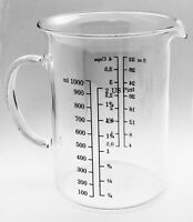 1000ml,Glass Beaker With Handel ,New Free Shipping