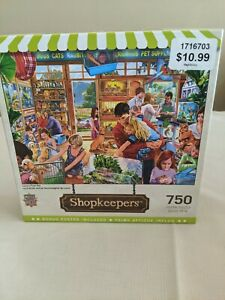 Master Pieces 750 Piece Puzzle Shopkeepers Complete